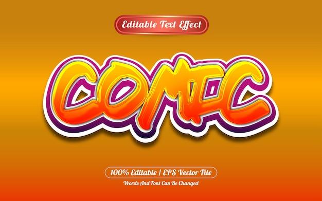 Comic editable text effect graffiti style