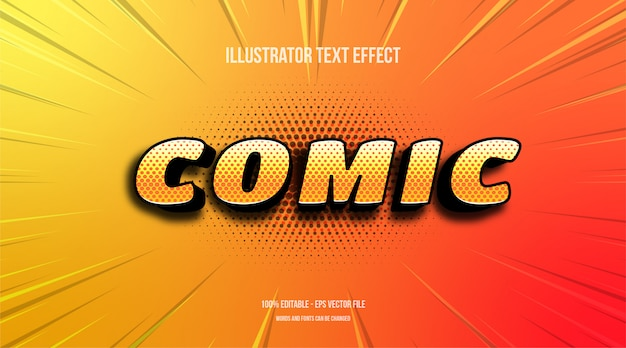 Comic editable text effect