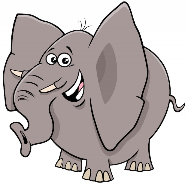 Comic elephant cartoon animal character