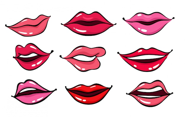 Comic female lips