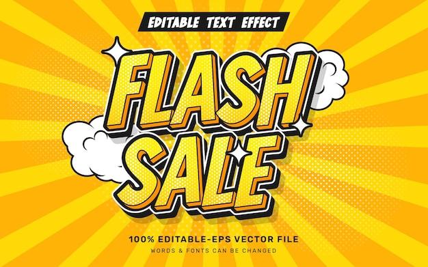 Текстовый эффект продажи комиксов flash