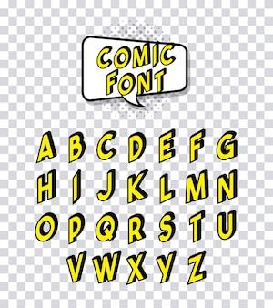 コミックフォントアルファベットポップアート