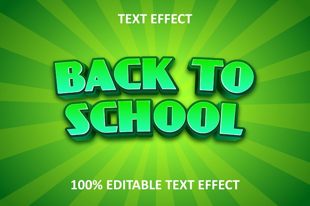 Comic forest editable text effect green