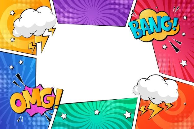Comic frame background