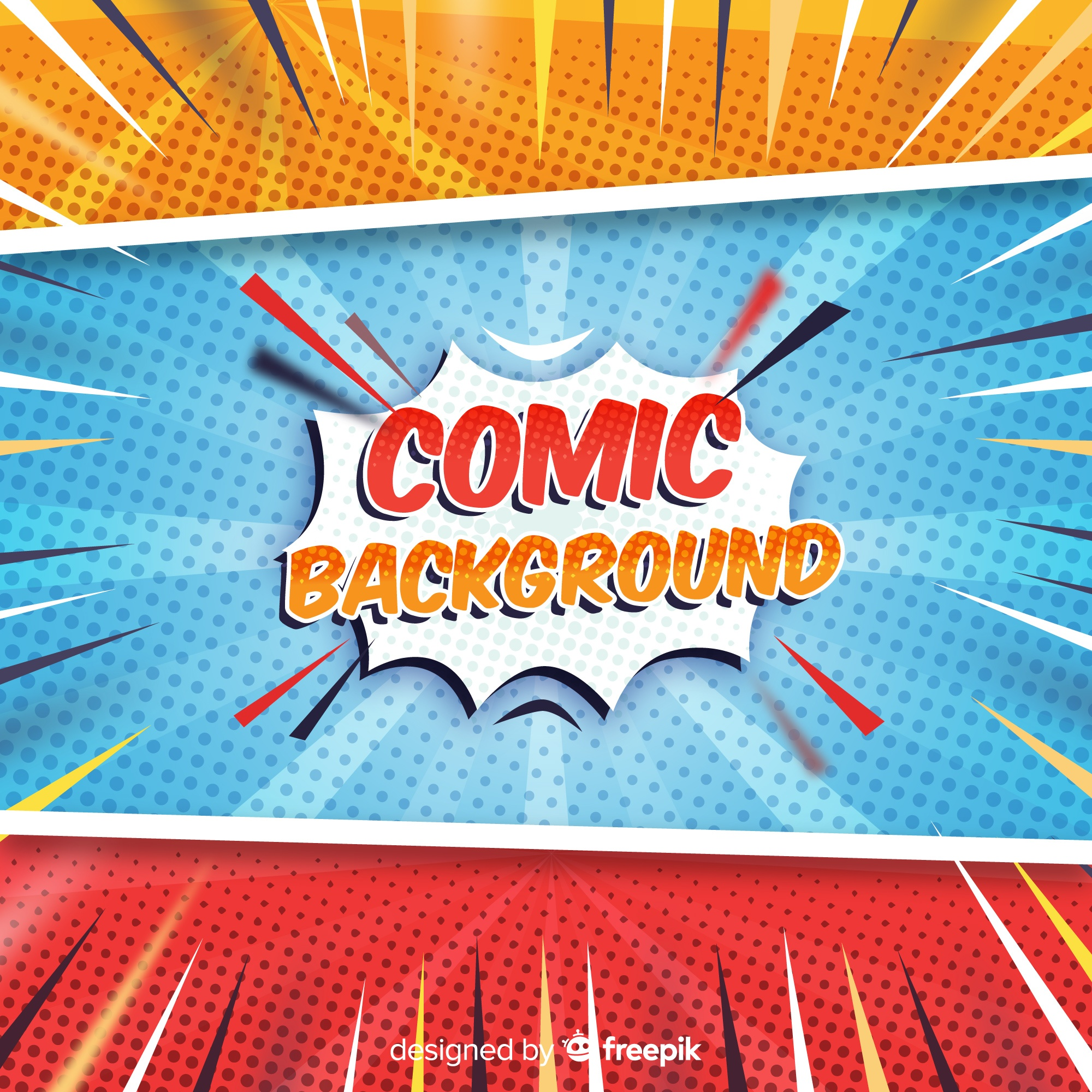 Comic halftone background