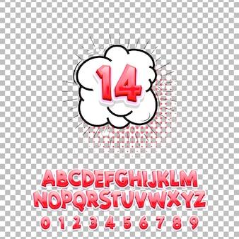 Comic lettering font 14 3d.