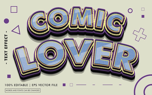 Comic lover text effect style
