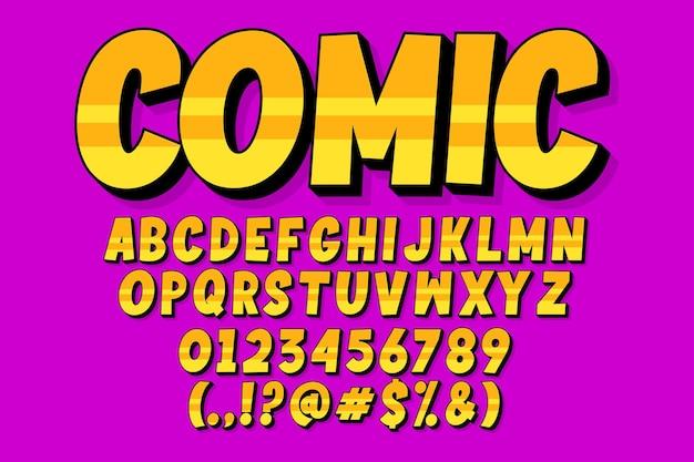 Комикс, современный стиль алфавита