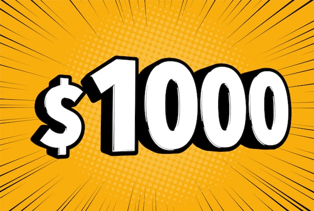 Comic one thousand 1000 dollar