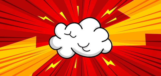 Комикс поп арт фон с облаком