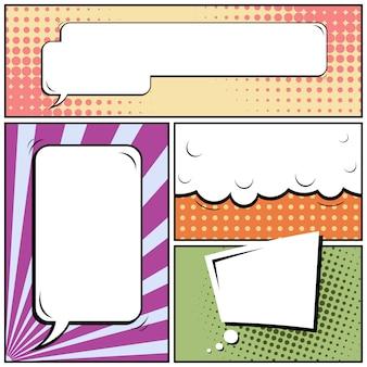 Comic pop art style background.