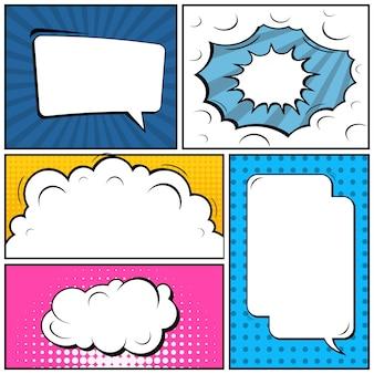 Comic pop art style blank banner
