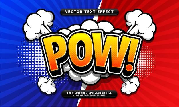 Редактируемый текстовый эффект комиксов, подходящий для концепции мультяшного стиля