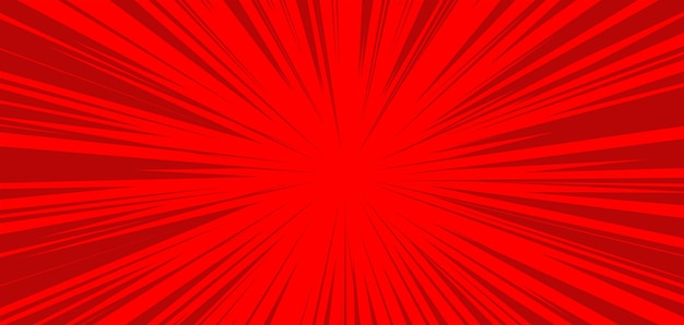 Comic red burst background template