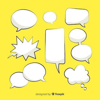 Comic speech bubble collection design