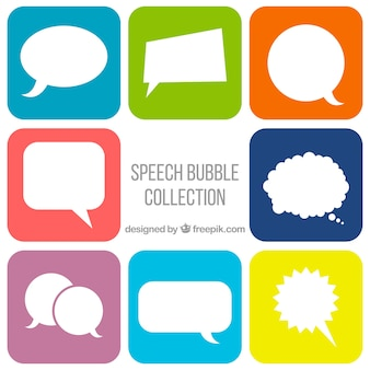 Коллекция комических речевых пузырей