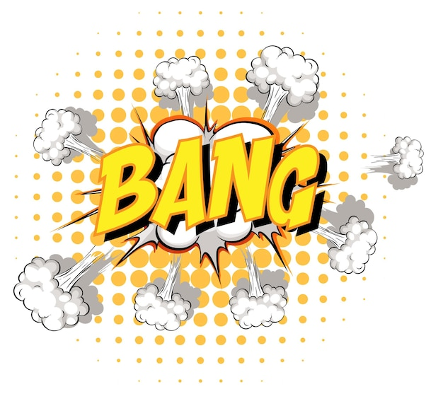 Comic speech bubble with bang text