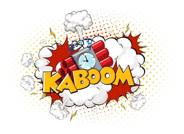 Comic speech bubble with kaboom text