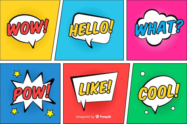 Comic speech bubbles collecton