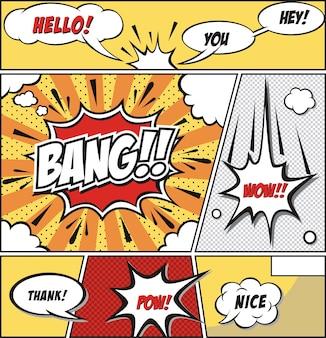 Comic speech bubbles -comic strip
