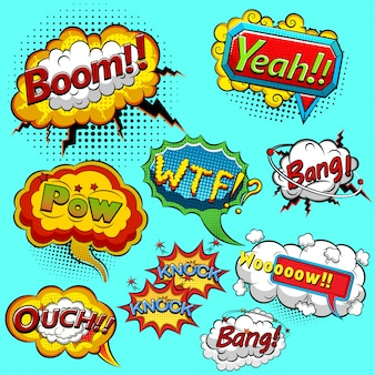 Comic speech bubbles. illustration