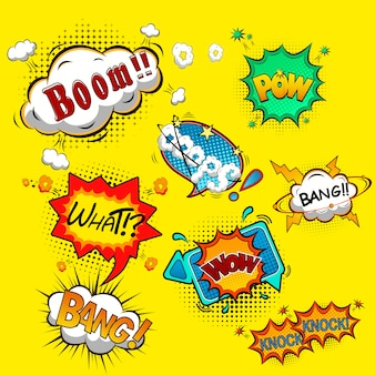 Comic speech bubbles   illustration