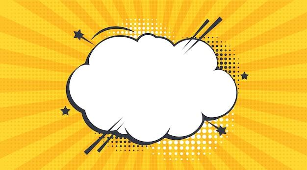 Комические речевые пузыри с различными эмоциями или набор комического текста в стиле поп-арт вектор яркий
