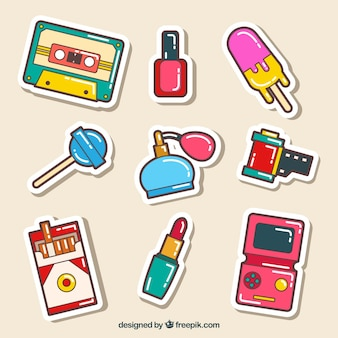 Comic stickers with fun style