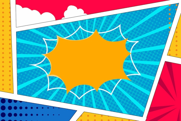 Comic style background in flat design
