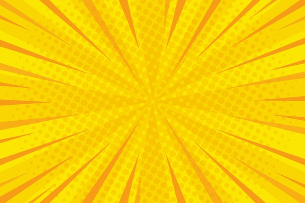 Comic style background yellow colored and dots