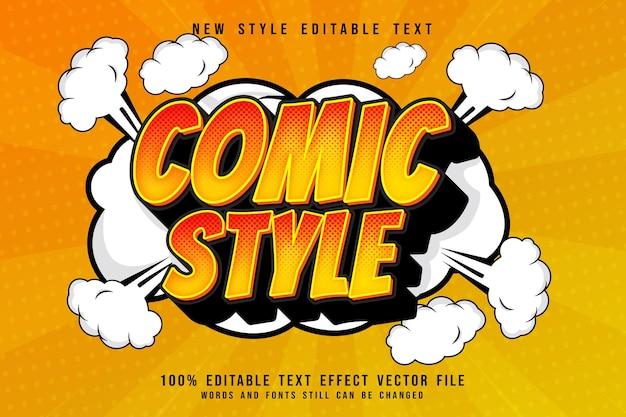 Comic style editable text effect 3 dimension emboss cartoon comic style