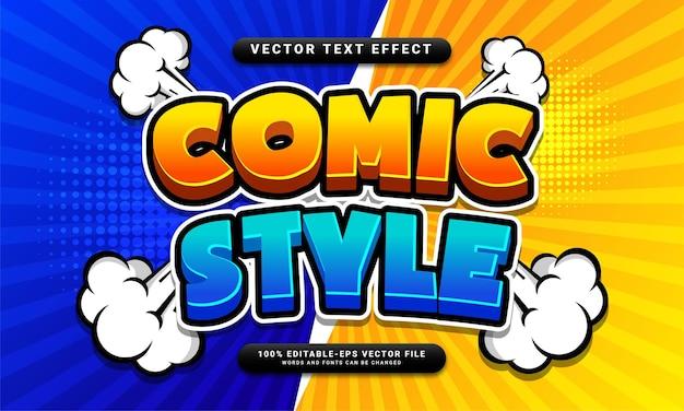 Редактируемый текстовый эффект в стиле комиксов подходит для концепции мультяшного стиля