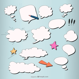 Comic style of the mushroom cloud layer dialog box