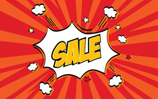 Комический стиль sale banner