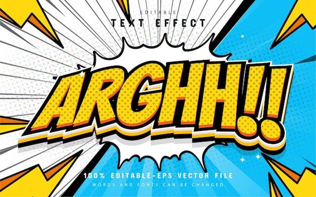 Comic style text effect editable
