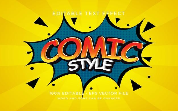 Эффект текста в стиле комиксов стиль редактируемый текстовый эффект