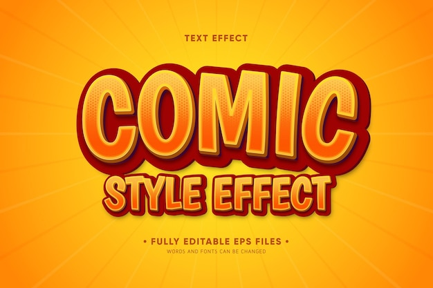 Comic style text effect