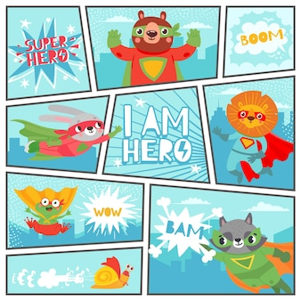 Comic super animals