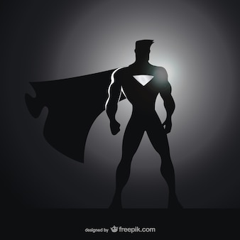 Comic superhero silhouette