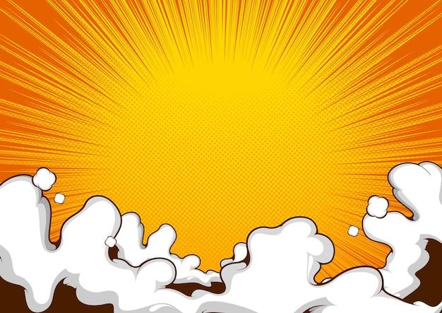 Comic templat  background  design, pop art illustration.