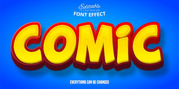 Comic text, 3d editable font effect