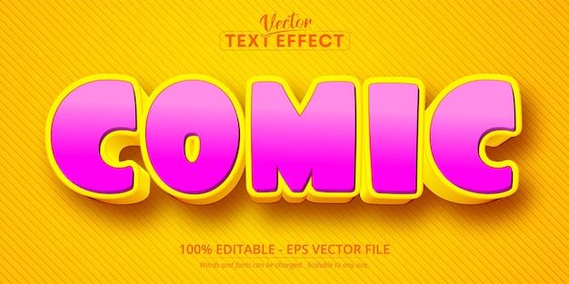 Comic text, cartoon style editable text effect