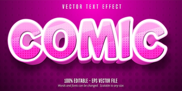 Comic text, cartoon style editable text effect