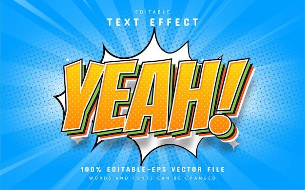 Comic text effect editable