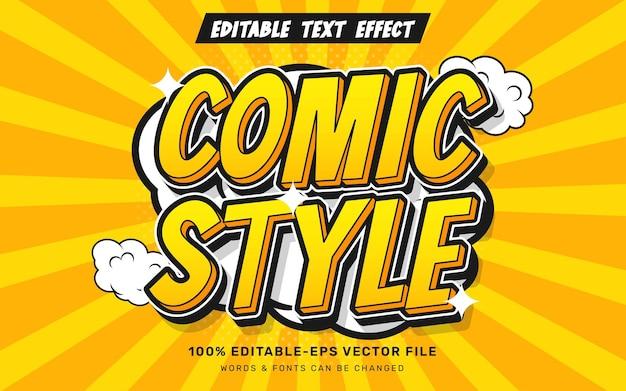 Comic text effect