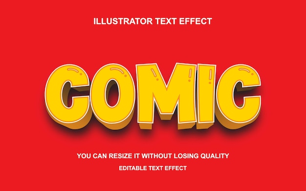 Comic text font effect