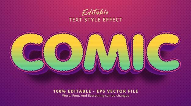 Комический текст в причудливом цветном стиле заголовка события, редактируемый текстовый эффект