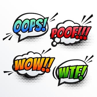 Comic text sound effect pop art vector