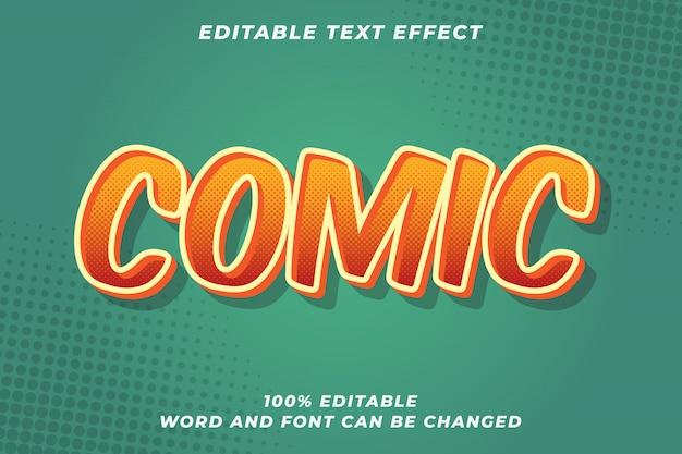 Comic text style effect premium