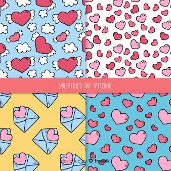 Comic valentine pattern collection